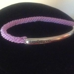 Bracelet with saying - Be Brave